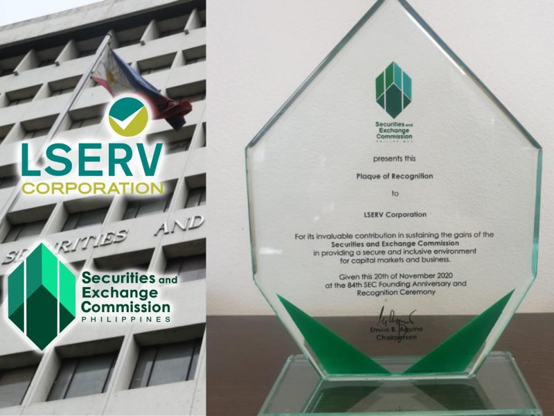 Service Excellence in Action: SEC Awards Plaque of Recognition to LSERV Corporation